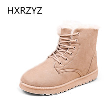 Women Winter Boots Fashion Ladies Boots  Fur Snow Boots Women Ankle Boot Flat Heels Winter Shoes Warm Snow Shoes