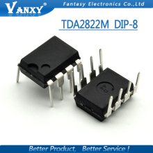 10PCS TDA2822M DIP8 TDA2822 DIP new and original IC free shipping