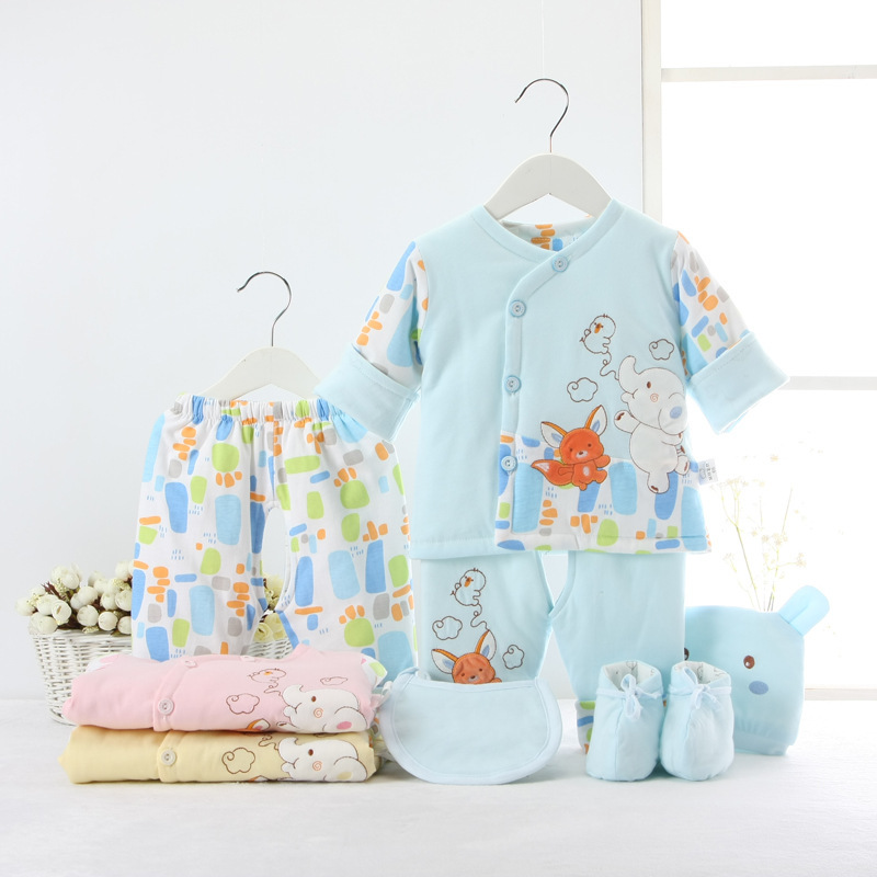 Newborn Baby Clothing Set for 0-6M Winter Autumn kids Clothes 100% Cotton long sleeve baby clothes baby 6pcs baby gift<br><br>Aliexpress
