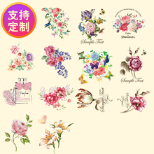 DIY handmade clothing patch cloth patch small adult women flower pattern hot transfer Offset heat transfer patches