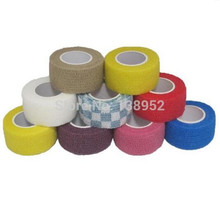 Elastic Adhesive Bandage Finger tape Volleyball New Finger protection 2.5cm x 4.5m Stretched Hot Sale 5rolls/lot(China)