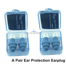 2 Pair Sound Insulation Ear Protection Anti-Noise Sleeping Plugs Travel Earplug Foam Soft Noise Reduction Free Shipping