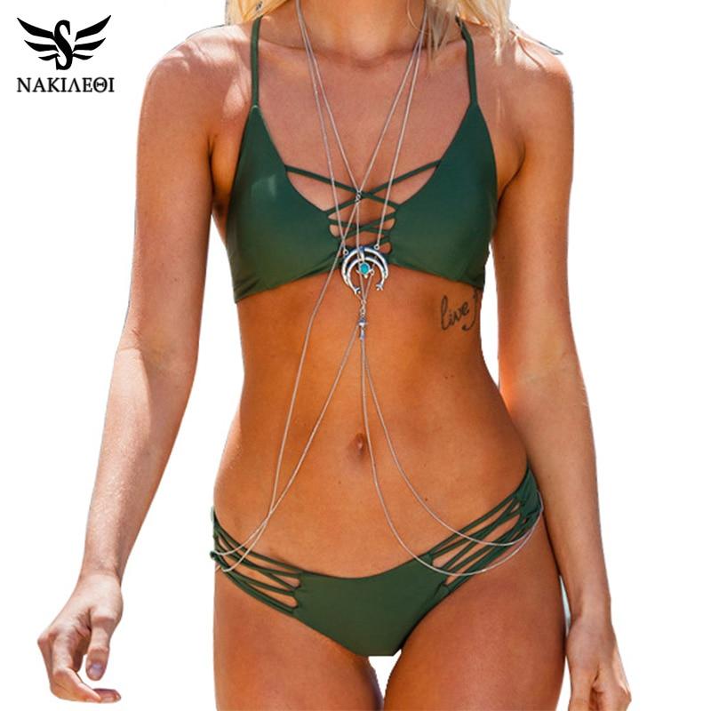 NAKIAEOI Sexy Brazilian Bikini Swimwear Swimsuit Bathing Suit Women Biquini 2017 Push Up Bikini Set Femme Beach Wear Swim Suit<br><br>Aliexpress