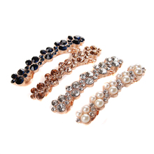 Fashion Women Girls Elegant Crystal Rhinestone Barrettes Hair Clip Clamp Hairpins Hair Accessories the cheapest products
