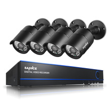 SANNCE Security CCTV System 8CH DVR 4 x 1080P Cameras 2.0MP IR Day/Night Kit 8 Channel Video Surveillance Kits Seguridad Home(China)