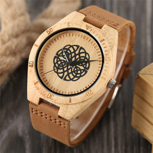 Men's Watch Bamboo Case Genuine Leather Band Strap Quartz Women Analog Handmade Clock Masculino 100% Nature Wooden Best Gift