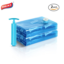 2 PCS with Pump 120*100cm Vacuum Bag Clothes Storage Bag Airtight No Leak Work with All Vacuum Cleaner