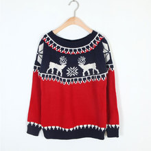 2016 New Arrival Winter Christmas Women Reindeer Sweater Female Deer Fashion Thicken Pullovers Lady Knitted Cotton sweaters