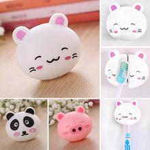 Good Quality Cute Cartoon Rabbit Panda Pig Sucker Plastic Toothbrush Holder Delicate Suction Accessories(China)