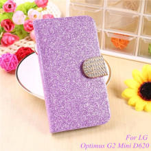 Buy Fashion Bling Glitter Flip Case Cover LG Optimus G2 Mini G2Mini D620 D618 Mobile Phone Case Card Slot for $2.90 in AliExpress store