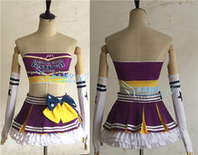 love live Paradise Live TOJO NOZOMI cosplay costume free shipping custome made headband+top+skirt+stockings+gloves(China)