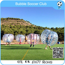 Wholesale 4 pcs(2 Red +2 Blue+1 Pump) 1.2m Inflatable loopy ball ,Bubble Football Ball ,Bubble Soccer Ball For Promotion