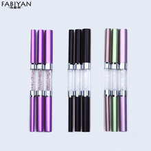 3Pcs/Set Double-ended Different Size C Curve Rhinestone Metal Acrylic Nail Art Tips French Shaping Rod Stick Tube Manicure Tools(China)