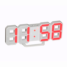 Multifunctional Alarm Clock LED Digital Wall Clock 12H/24H Time Display With Alarm and Snooze Function Adjustable Luminance