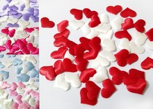 1000pcs Rose Flower Petals Leaves Wedding Table Decorations throwing heart petals valentines day decoration party supply A62