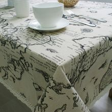 Lace Tablecloth Applicable World Map Cloth Elegant Decorative Tablecloth Table Linen Cover For Living Room High Quality New(China)
