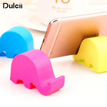 DULCII 10pcs/lot Universal Mobile Phone Small Stand Holder Cute Elephant Smartphone Tablet Desk Stand Mount Kickstand