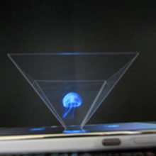 50PCS/ Lot Holographic Frame Pyramid By Cellphone Smartphone 3D Dispaly Box Holographic Display Hologram 3D Showcase