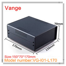 1pcs/lot excellent quality baking varnish surface iron housing box with ABS plastic panels for control device 150*70*170mm(China)