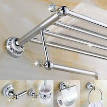 New Arrival brass Bath Hardware Set, Chrome toilet brush holder ,Paper Holder,Towel Bar,Soap basket,Towel Rack bathroom set