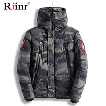 Camouflage Cotton Parkas Jackets 2019 Men's Parka Hooded Coat Male Fur Collar Parkas Winter Jacket Men Military Overcoat(China)