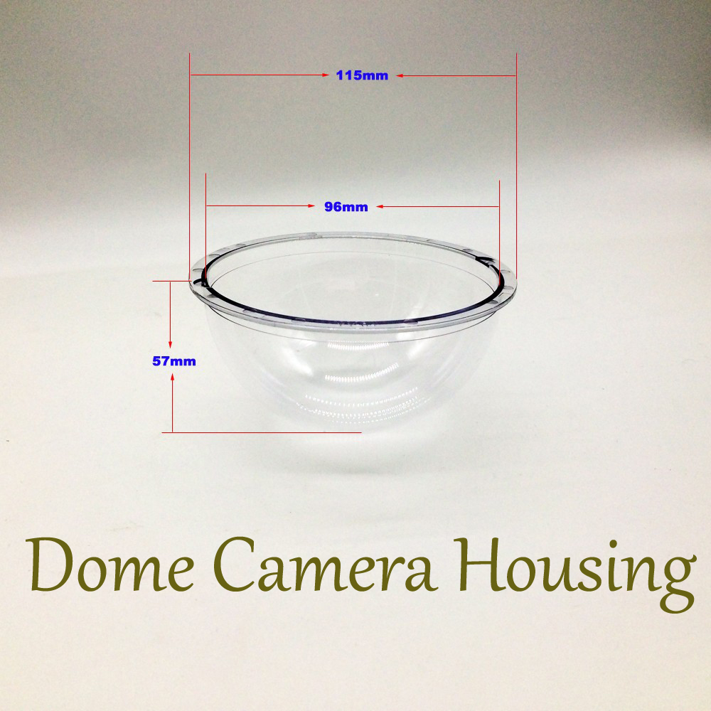 CCTV Security Surveillance Acrylic Dome  Camera Housing Cover 115x57mm  Camera Case Protect Dust Cover<br><br>Aliexpress