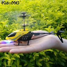 Mini RC 901 Helicopters With Light Music Shatter Resistant 2.5CH Flight Toys Remote Control With Gyro System Flying Quadcopter(China)