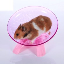 Hamster Mouse Running Disc Flying Saucer Exercise Wheel Samll Animals Guinea Pig Cage Accessories Blue Purple 18cm