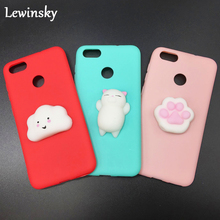 Lewinsky Squishy Cat Soft Phone Case for iPhone X 5s SE 6 6s Cute Case for iPhone 8 7 6S plus 3D Doll Phone Accessories Capa NEW(China)