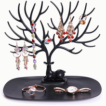 New Arrival Portable Practical Rack Display Organizer Holder Show Rack Jewelry Necklace Ring Earring Tree Stand Stock Offer(China)