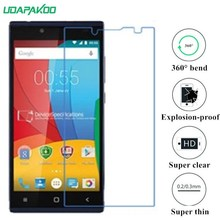 udapakoo clear Tempered (soft glass) film for Prestigio Grace Q5 Nano Explosion-proof glass Screen Protector(China)