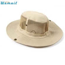 June 7 Fairy Store   Men Outdoor Camping Fishing Cap Sun Protection Boonie Bucket Hat Wide Brim