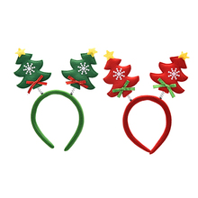 1PC Christmas tree head buckle Xmas head buckle headband 24CM Suitable for Adults and Children Christmas Headband ornaments