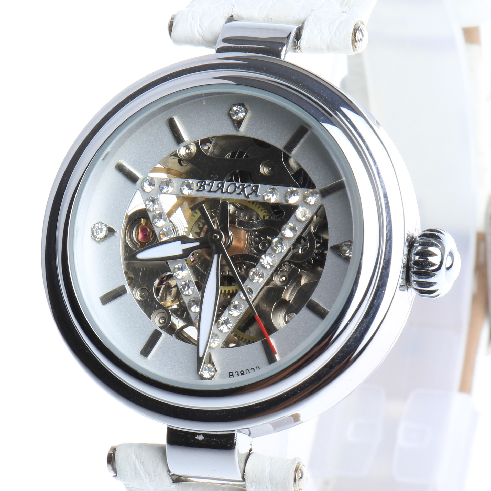 2017 NEWEST brand BIAOKA watches luxury skeleton watch automatic watches women genuine leather mechanical watches<br>