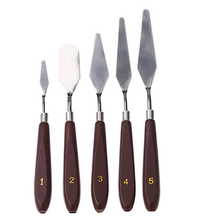 Stainless Steel Spatula 5pcs/set Baking Pastry Tool Mixing Scraper Pack Art Scorper Oil Scraper Oil Painting Shovel Palette(China)