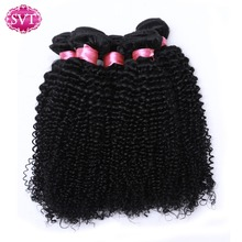 Peruvian Kinky Curly Hair 4 Bundles Deal SVT Hair Products 100% Human Hair Weave Bundles Online Natural Black cheveux bresiliens(China)
