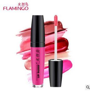 Hot Vente Marque Flamingo 6 Couleurs protéger à lèvres Liquide Brillant À Lèvres Hydratant Maquillage Collagène Nourrir Multi-Action Lip Couleur 31005