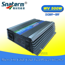 500W DC22~50V MPPT Micro On Grid Tie Inverter AC220V AC110V,50HZ 60HZ Solar pure sine wave power inverter suit 36V solar panels
