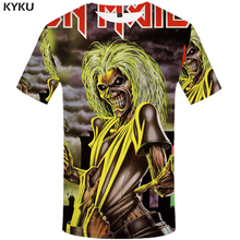 KYKU Brand iron maiden T-shirt band T shirt music Tshirt Skull shirts ghost Tee Gothic hip hop clothes 3d t shirt men 2017(China)