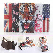 5 Colors Painted Elephone P4000 Case Luxury Ultra-thin Dedicated Elephone P4000 Leather Smartphone Pouch Case Cover Card Wallet