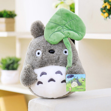 25cm Kawaii My Neighbor Totoro Plush Toy Cute Soft Doll Totoro with Lotus Leaf Kids Toys Cat(China)