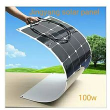 light weight bendable solar panel 100Watts, semi flexible solar panel ,for 12V battery lowest price promotion