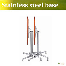 U-BEST Stainless steel coffee table base,bar table leg Hardware table frame,polished stainless steel folding  table foot