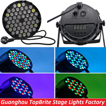 2016 Hot Sales Led Par Can 54X3W RGBW Led Par Light Strobe DMX Controller Party Dj Disco Bar Strobe Dimming Effect Projector