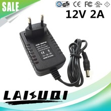 1PCS 12v 2a Power Adaptor 100V-240V 12V2A power supply For led Strip AC DC power adapter Switching conventer 12V 2000mA