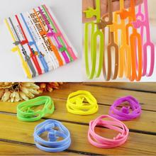 1pcs Learning Stationery Unique Creative Silicone Finger Pointing Bookmark Elasticity Book Mark Office Supply(China)