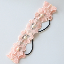 Four Leaf Clover Headbands For Women Embroidered Hair Flowers With Pearls Hair Bands For Girls Ladies Hair Accessories