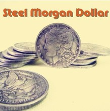 Free shipping ITmagic store Steel Morgan Dollar (3.8cm) 5pcs/lot -Trick , close-up coin magic Accessories