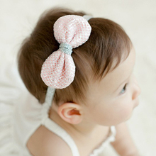 Baby Girl Headwear Bow Tie Baby Girl Headband Infant Head Wrap Toddler Elastic Hair Band Baby Photography Props BHW-066