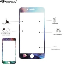 Tronsnic 9H Milky Way Tempered Glass Starry Sky Blue Earth Planet AntiScratch Shiny Screen Protector for iPhone 6 6s plus 7 plus(China)